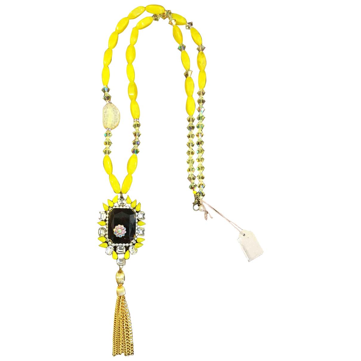 - Sautoir   pour femme en cristal - jaune