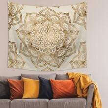 Tapisserie mit Lotus Muster
