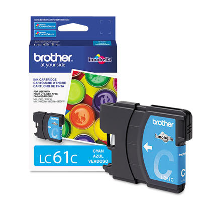 Brother LC61C Original Cyan Ink Cartridge