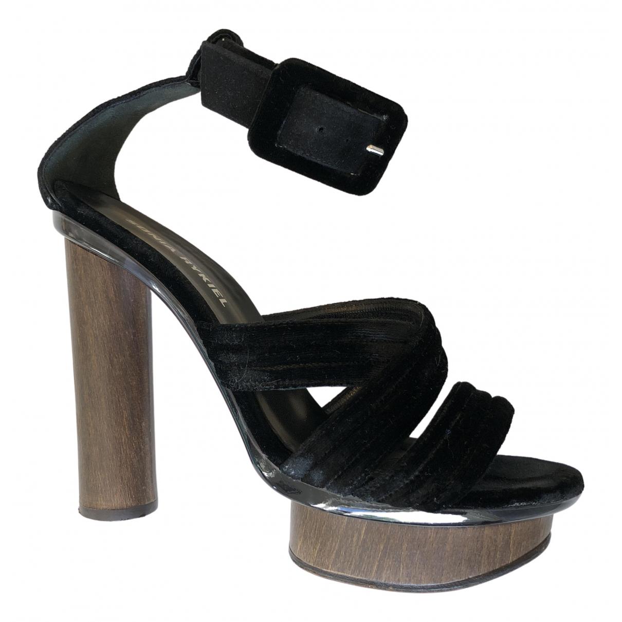 Sandalias de Terciopelo Sonia Rykiel