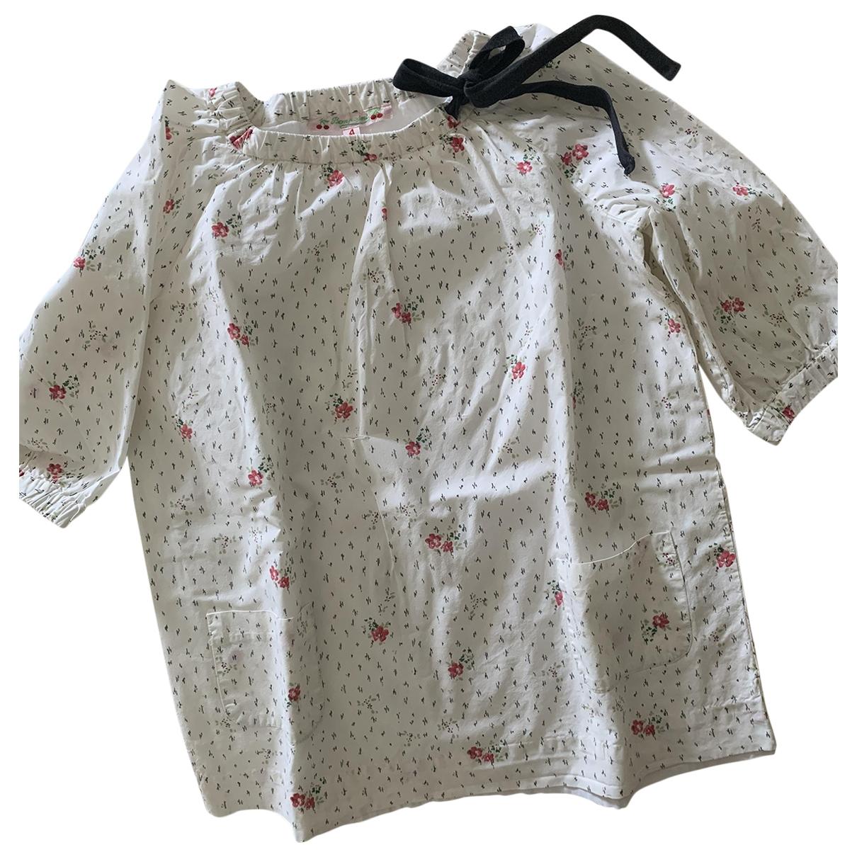 Bonpoint - Robe    pour enfant en coton - blanc