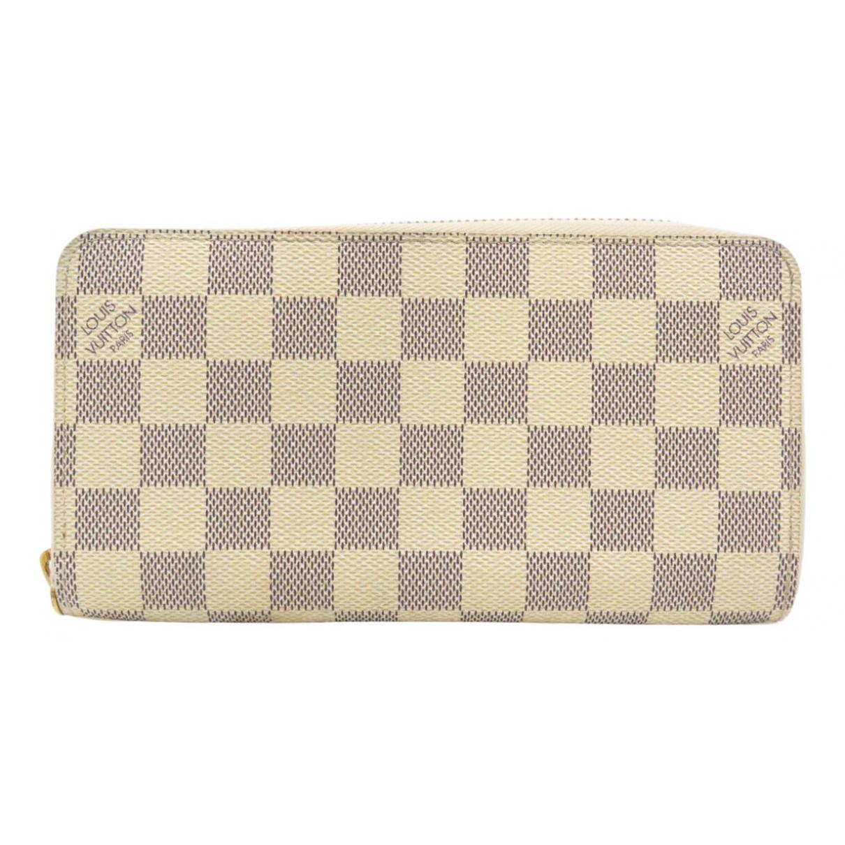 Louis Vuitton - Portefeuille Zippy pour femme en toile - bleu