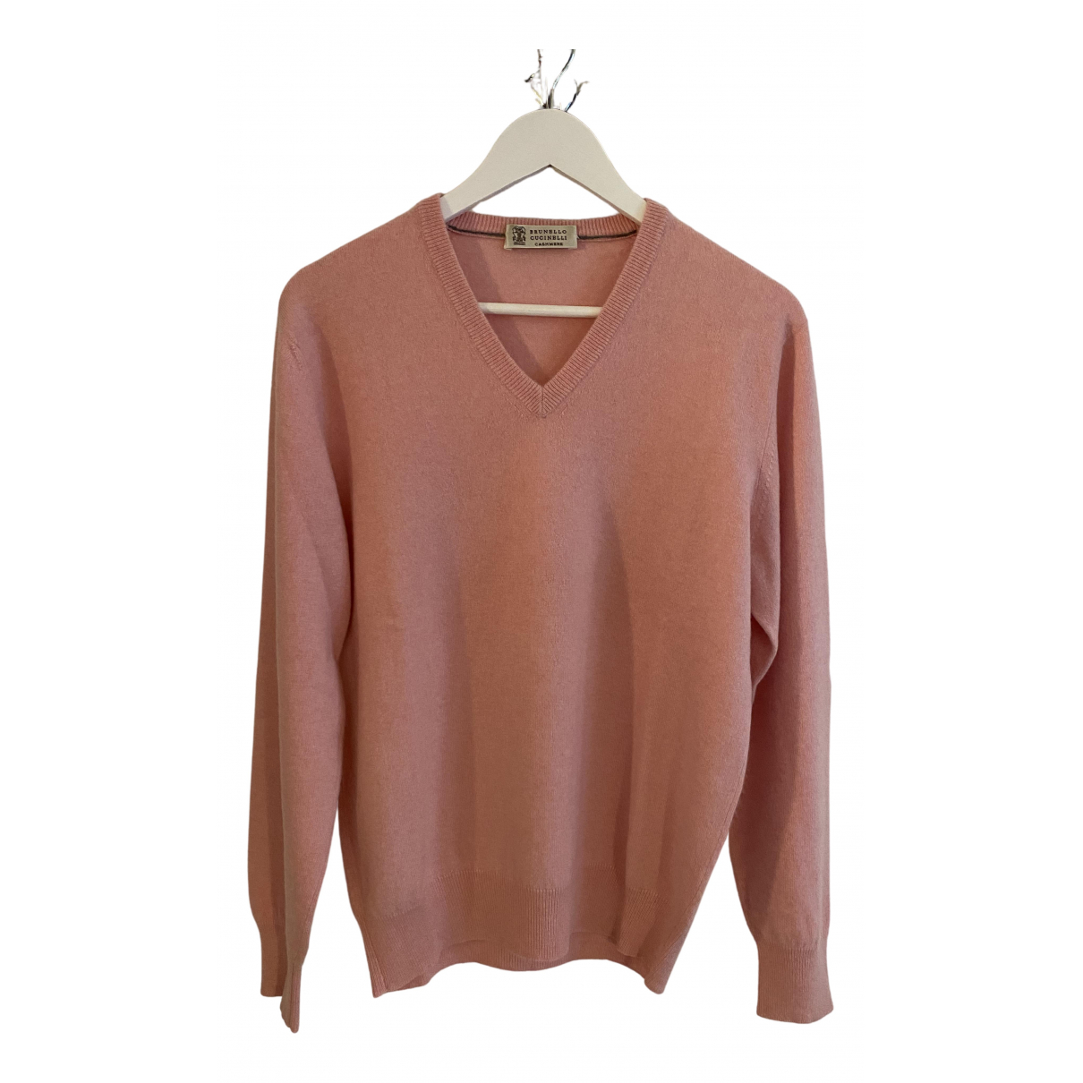 Brunello Cucinelli \N Pullover.Westen.Sweatshirts  in  Rosa Kaschmir