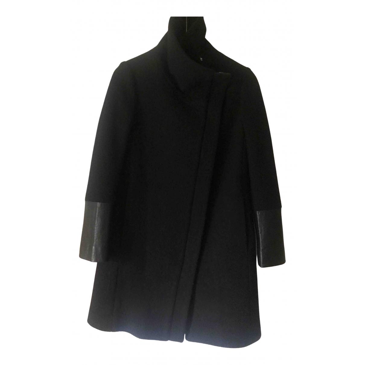 Club Monaco - Manteau   pour femme en laine - noir