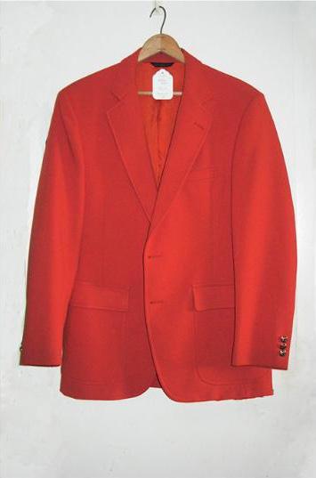 Mans Bright Orange 1s Sport Coat 100