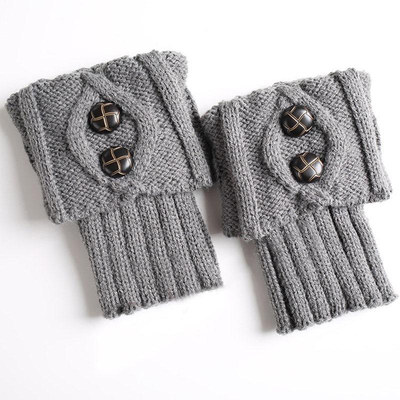 Ericdress Knit Boots Cuffs Fastener Socks