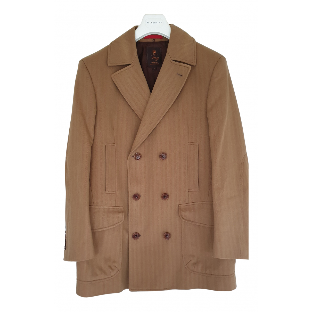 Fay N Camel Cotton coat  for Men L International