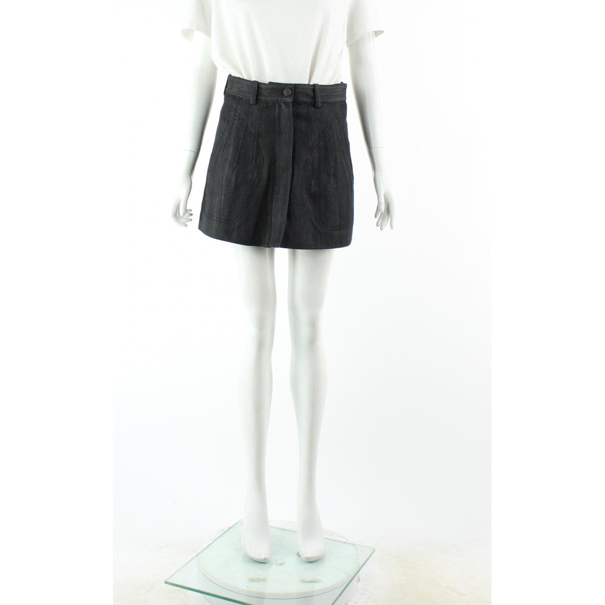 Balenciaga \N Navy Denim - Jeans skirt for Women 38 FR