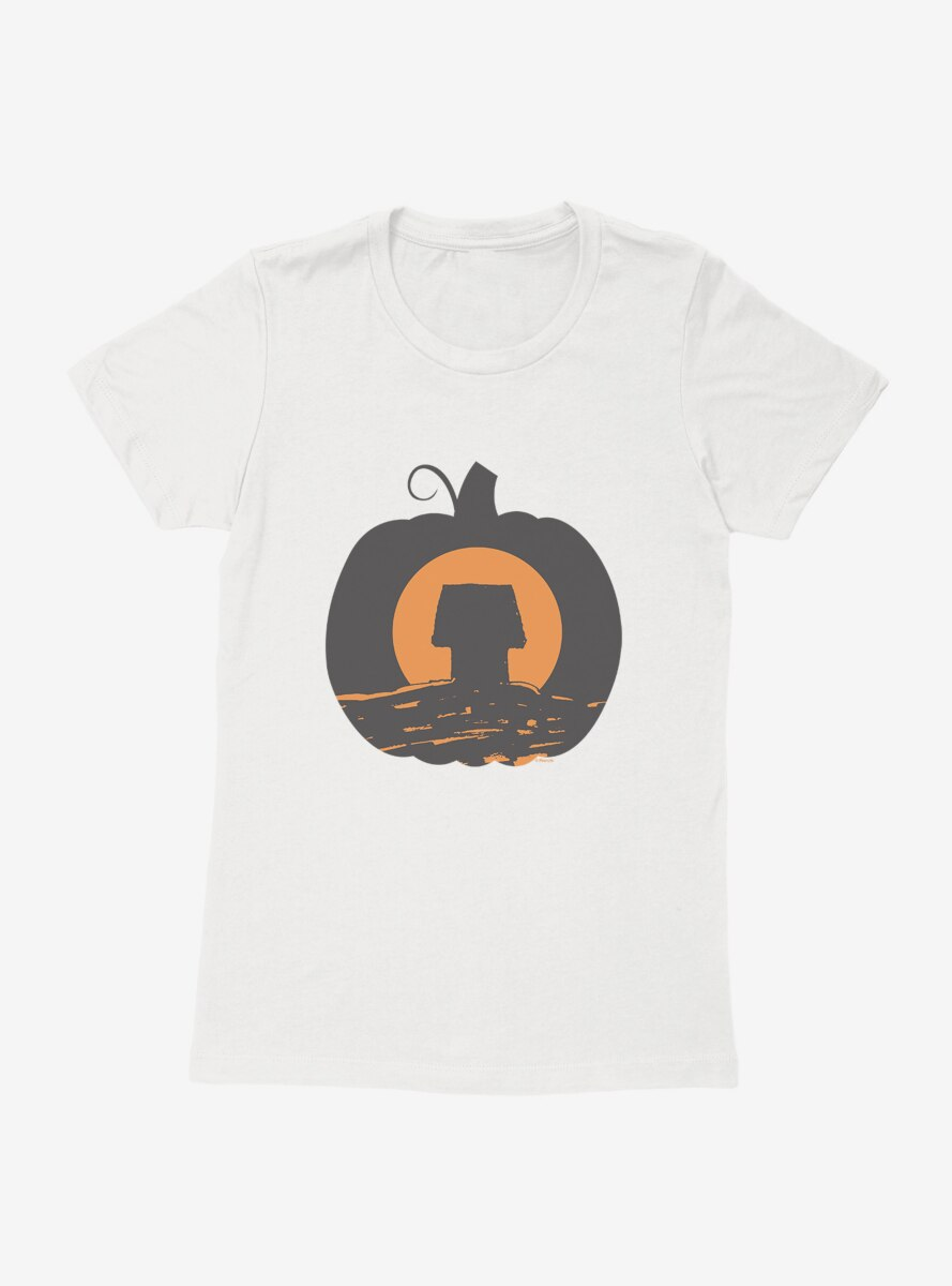Peanuts Snoopy Halloween Pumpkin House Womens T-Shirt