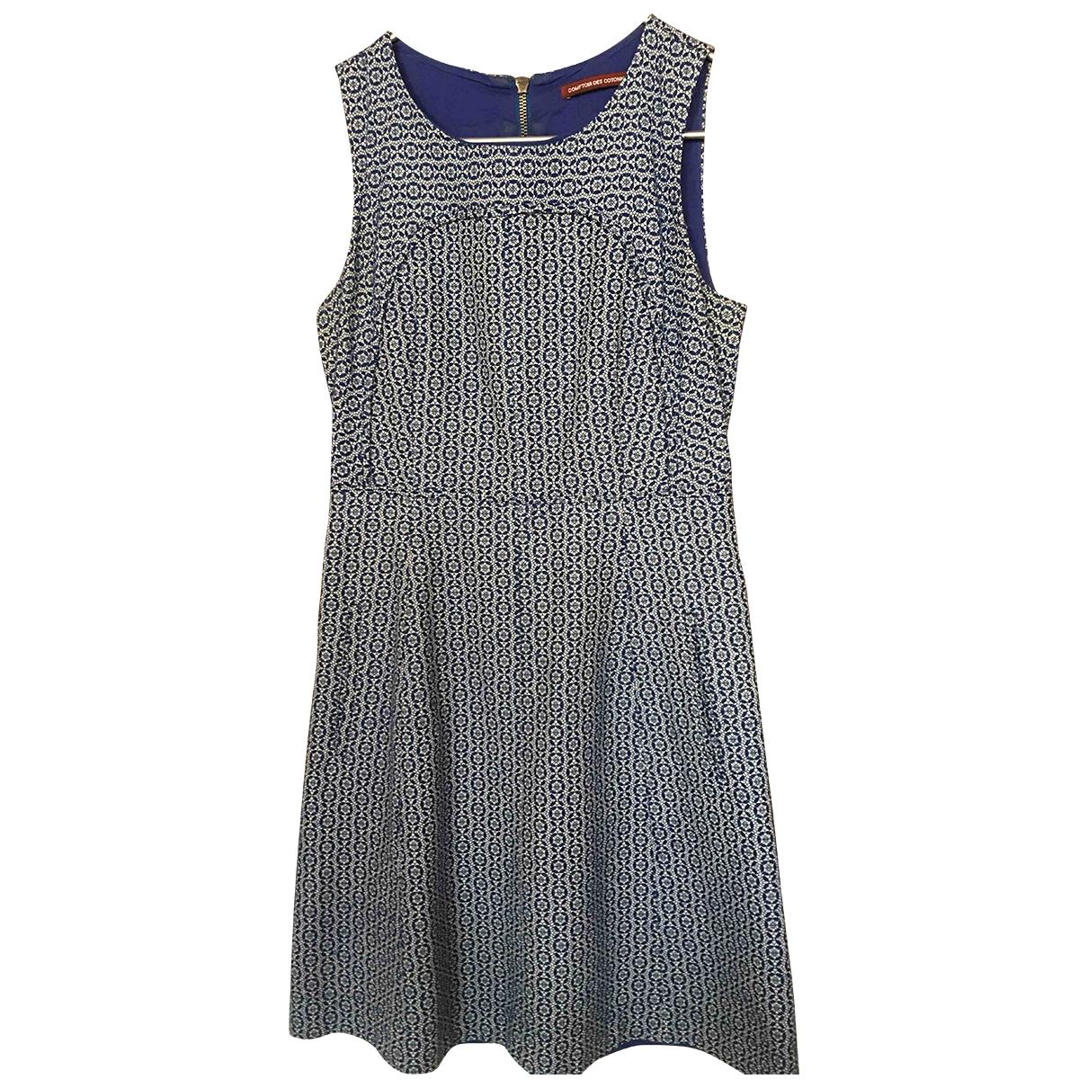 Comptoir Des Cotonniers \N Blue Cotton dress for Women 38 FR