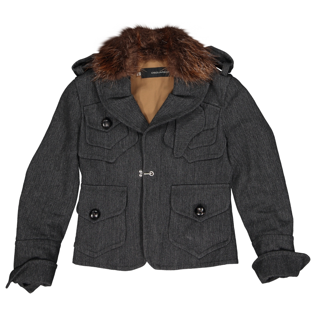 Dsquared2 \N Grey Wool jacket for Women 40 IT