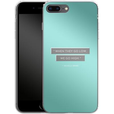 Apple iPhone 8 Plus Silikon Handyhuelle - Aim High von caseable Designs