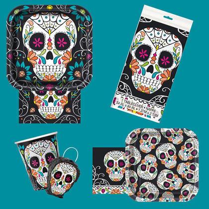 Jour de crâne d'Halloween des serviettes en papier mort pour la décoration de fête, 20pcs
