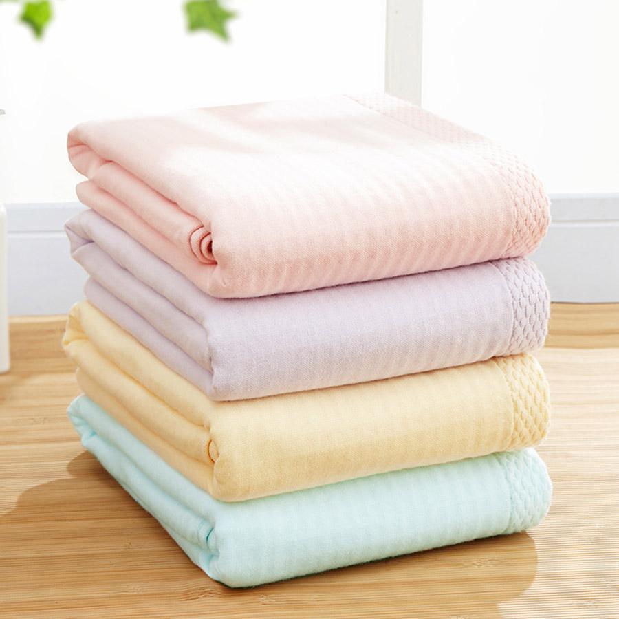 Plain Pattern Rectangular Children Soft Cotton Face&Hand Towel