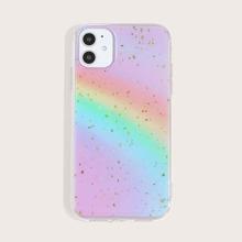 1pc Rainbow Print iPhone Case