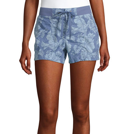 a.n.a Womens Mid Rise Pull-On Short, 18 , Blue
