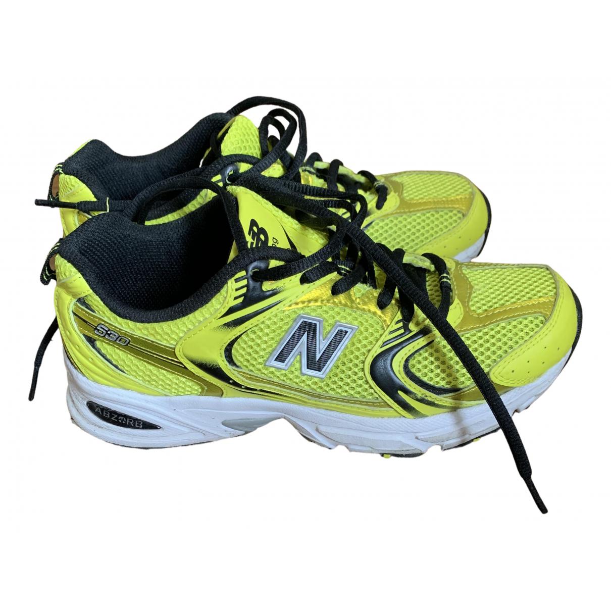 New Balance - Baskets   pour femme en caoutchouc - jaune