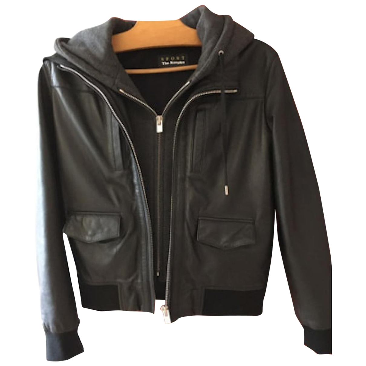 The Kooples \N Black Leather Leather jacket for Women XS International