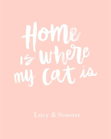 Non-Photo 16x20 Adhesive Poster, Home Décor -Home Cat