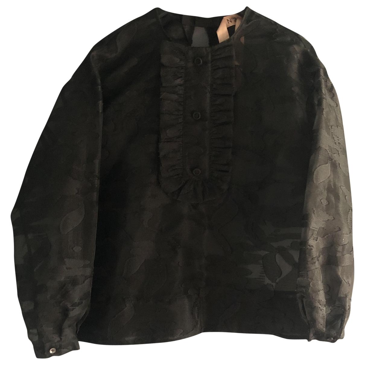 N°21 \N Black Lace  top for Women 40 IT