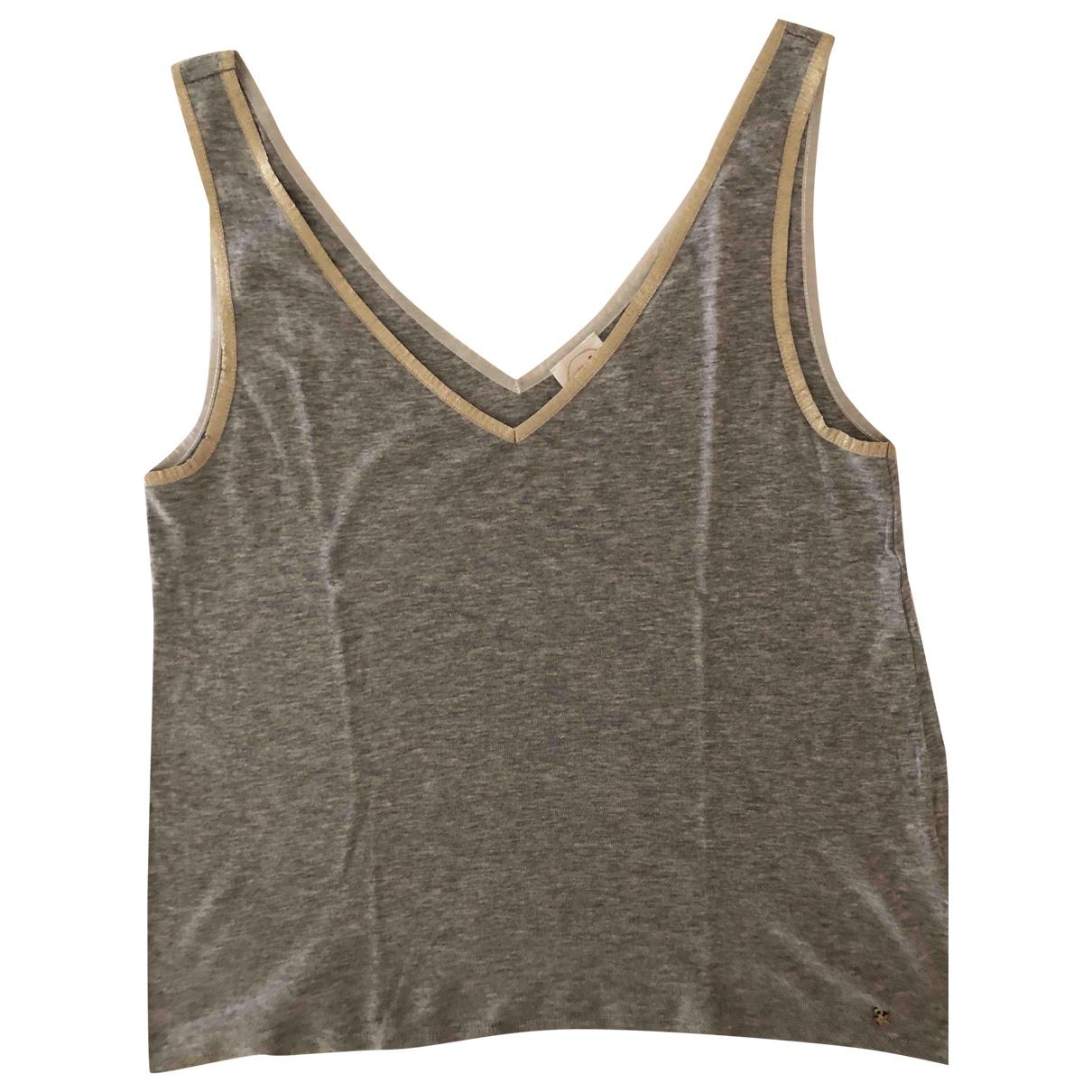 Des Petits Hauts - Top   pour femme en coton - gris