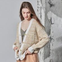 Cardigan amplio de mezcla de lana