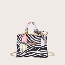 Maedchen Umhaengetasche mit Zebra Muster