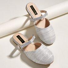 Zapatillas de niñitas de punta redonda