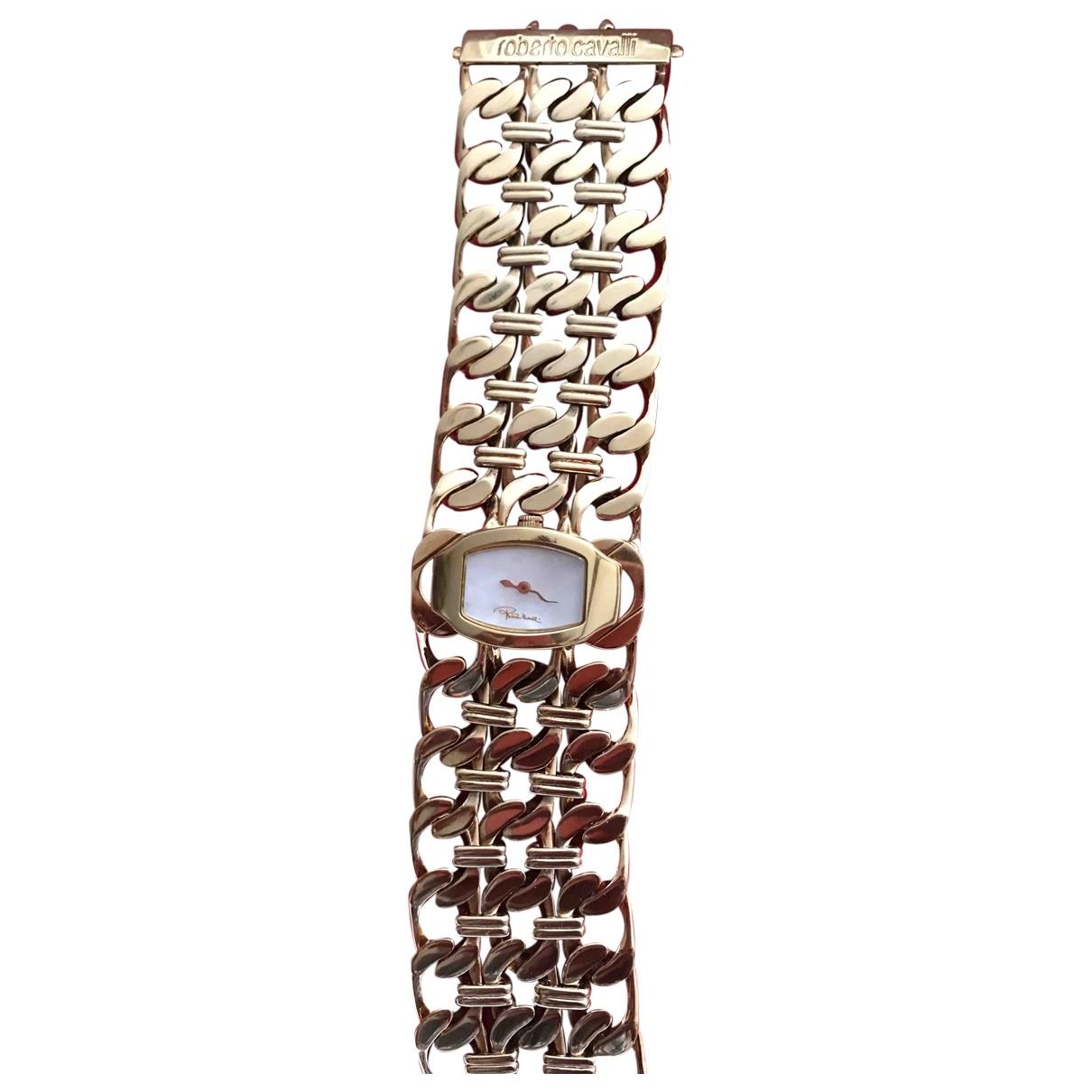 Roberto Cavalli \N Gold Steel watch for Women \N