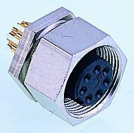 Binder Connector, 7 contacts Panel Mount M9 Socket, Solder
