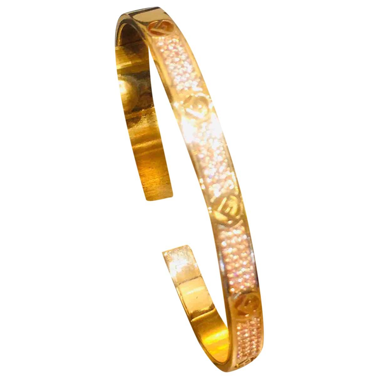 Fendi - Bracelet   pour femme en metal - dore
