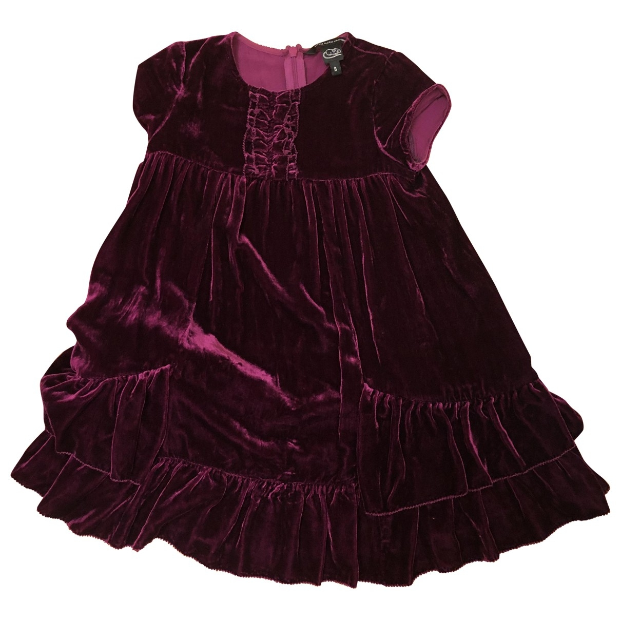 Little Marc Jacobs - Robe    pour enfant en velours - bordeaux