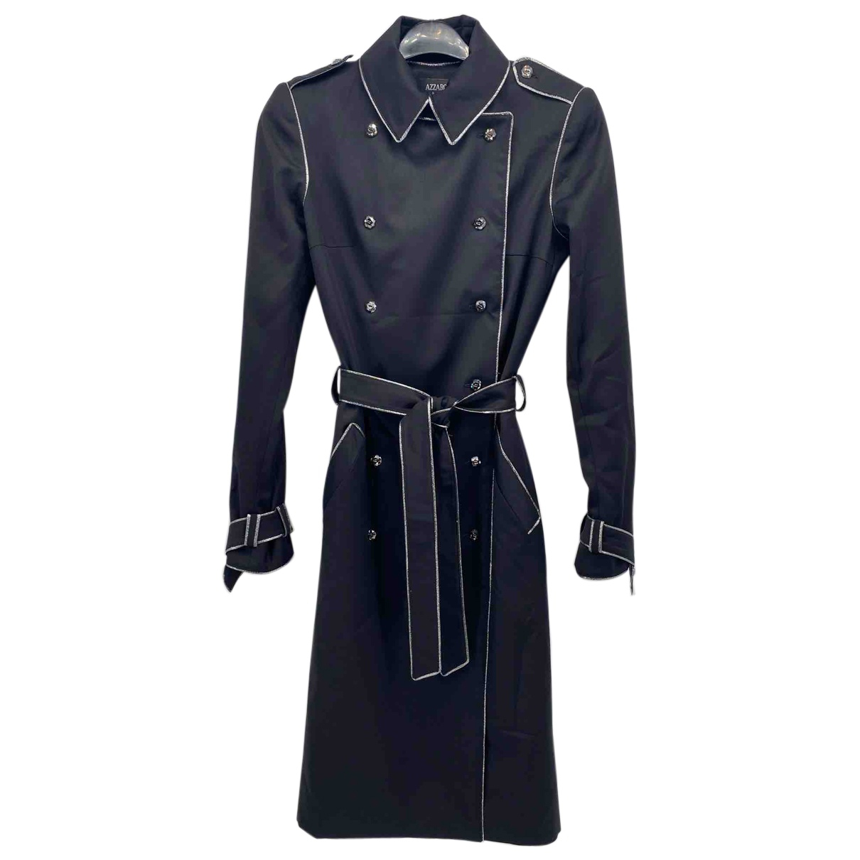 Azzaro N Black Wool coat for Women 36 FR