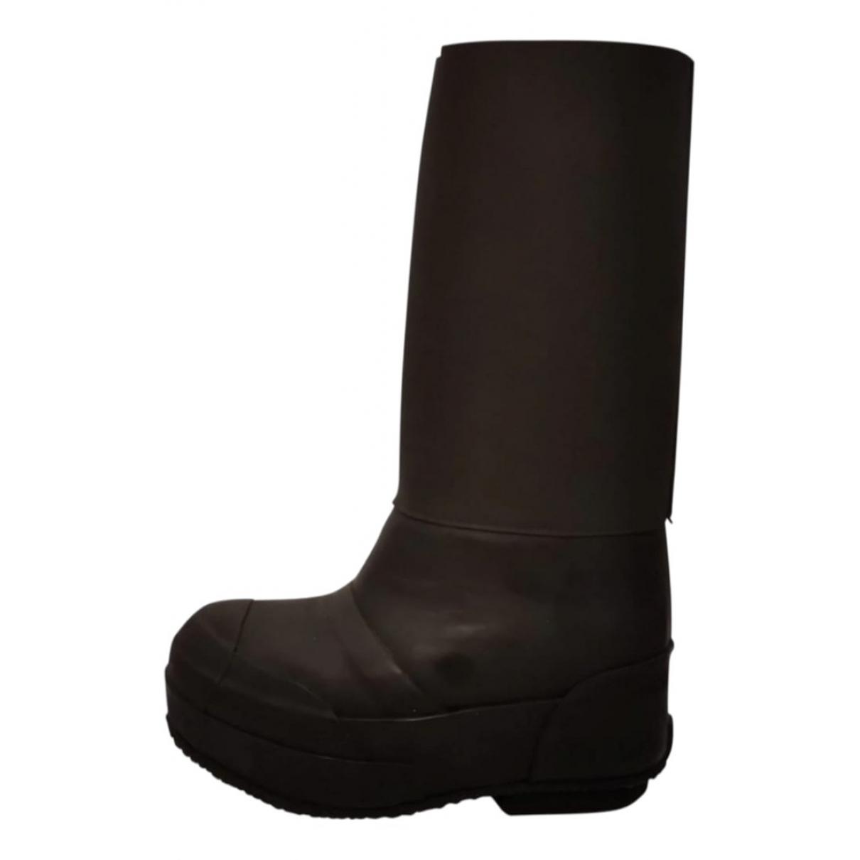 Celine - Bottes Planet pour femme en caoutchouc - noir