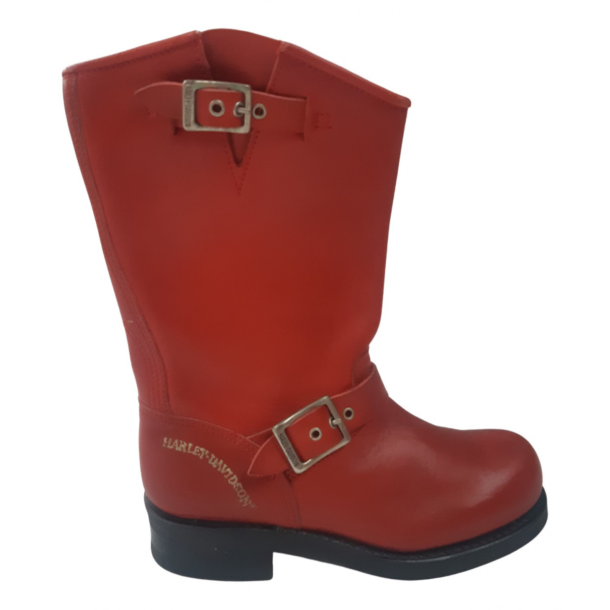 Non Signé / Unsigned \N Red Leather Boots for Women 38 EU