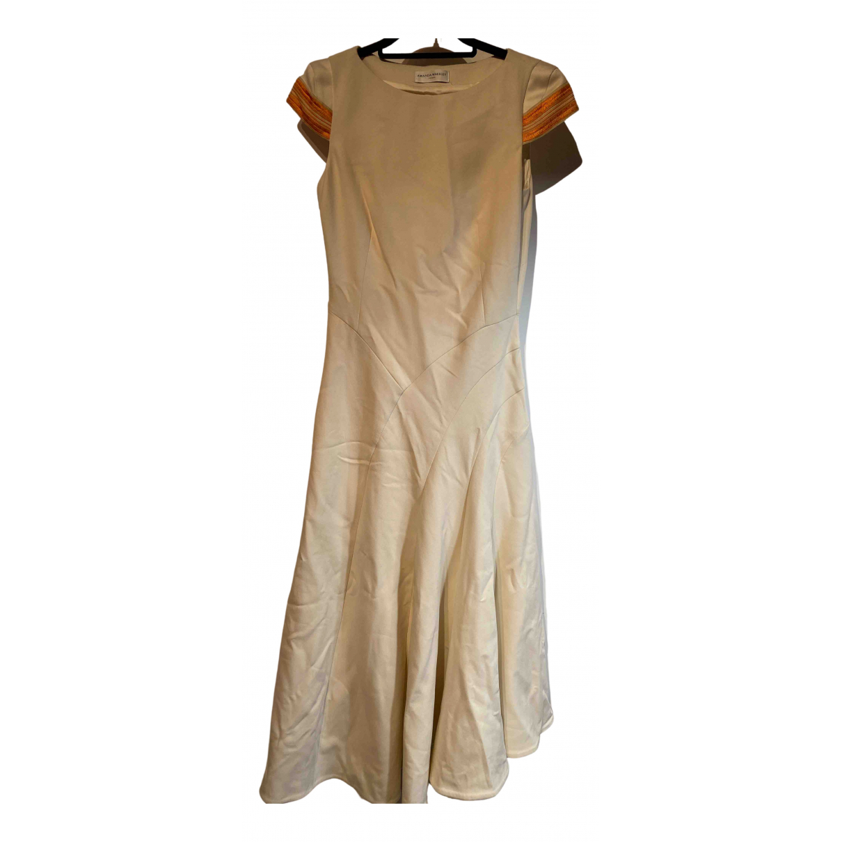 Amanda Wakeley \N Kleid in  Beige Polyester