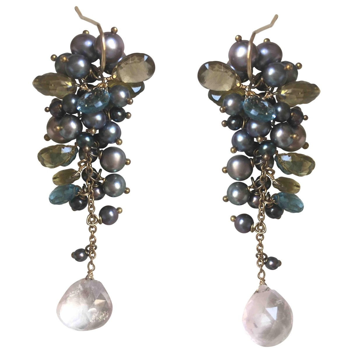 Non Signé / Unsigned \N Multicolour Pearls Earrings for Women \N