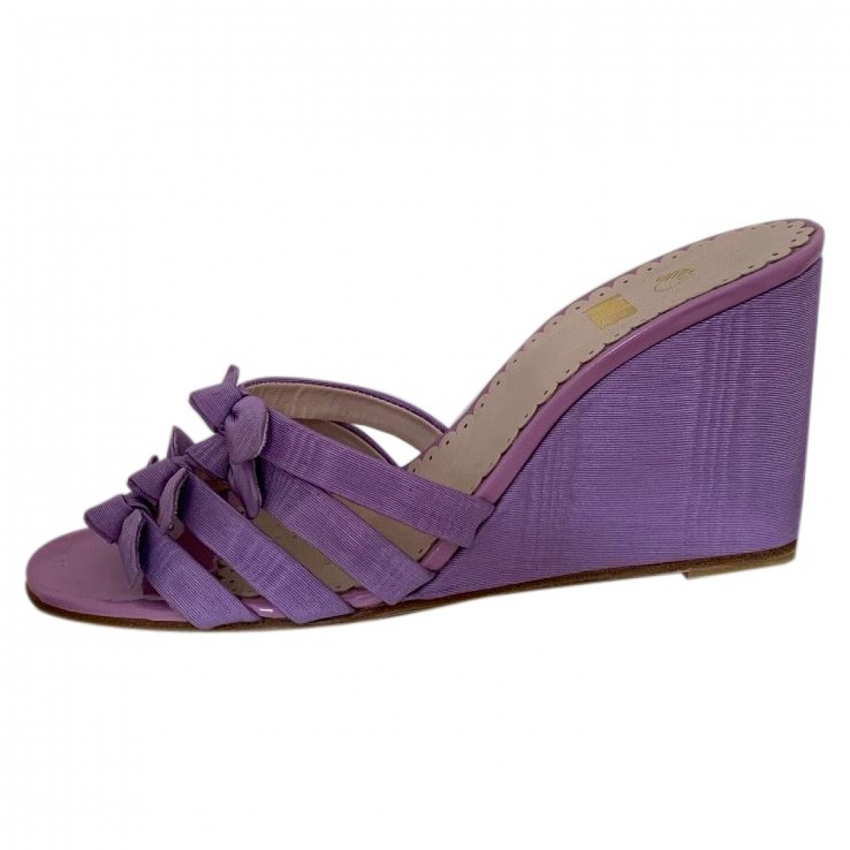 Mr By Man Repeller \N Purple Cloth Sandals for Women 39 EU