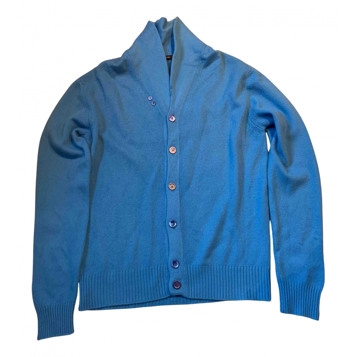 Cruciani N Blue Cashmere jacket  for Men 54 IT