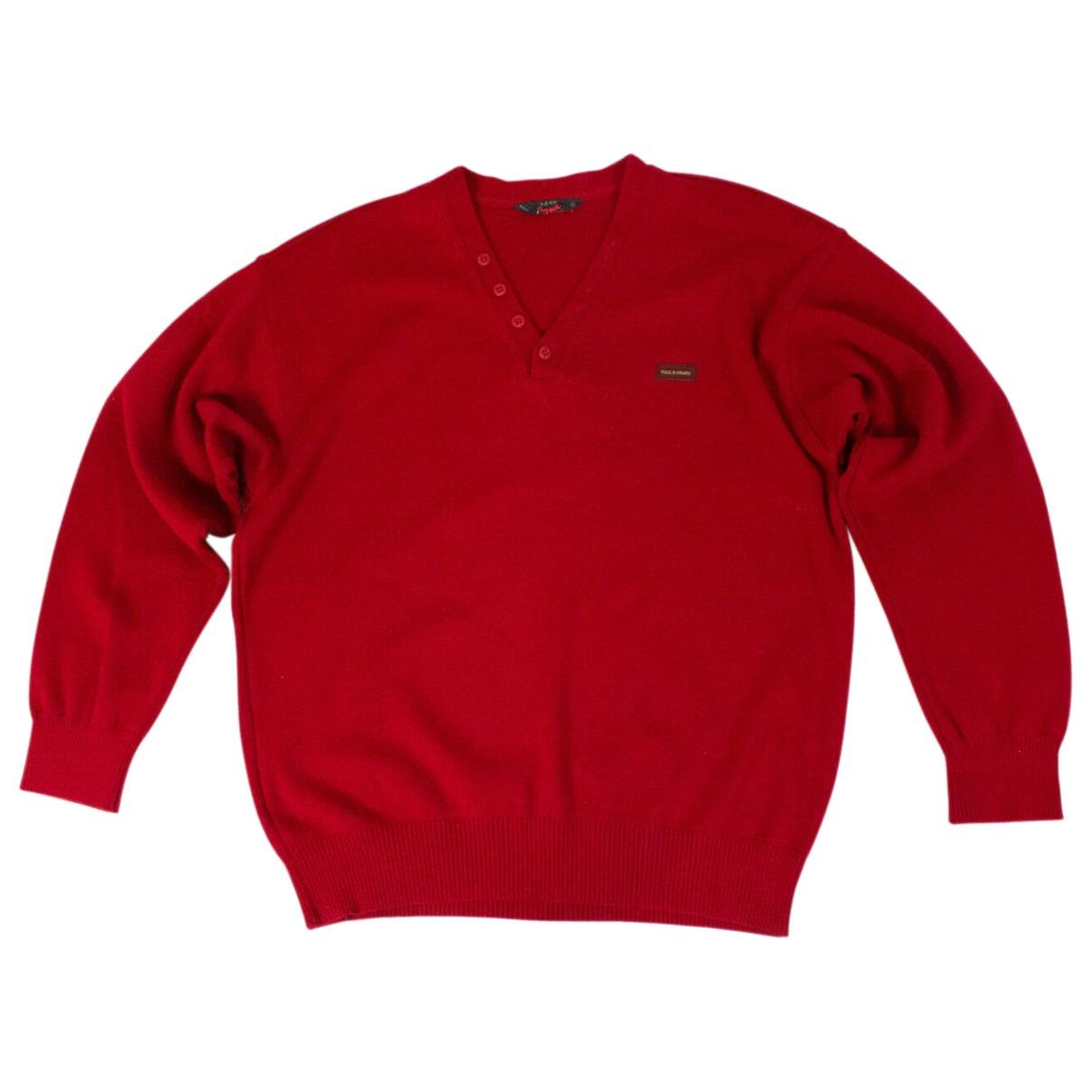 Autre Marque \N Pullover.Westen.Sweatshirts  in  Rot Wolle