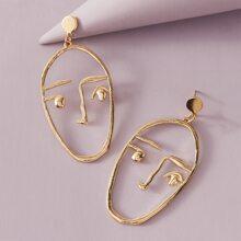 1 Paar Figur Ohrringe