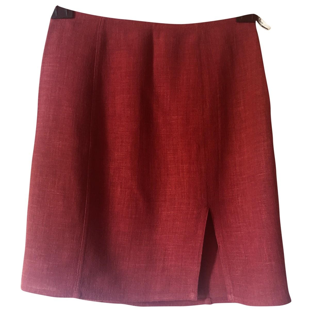 Dior \N Rocke in  Rot Viskose