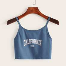 Letter Graphic Crop Cami