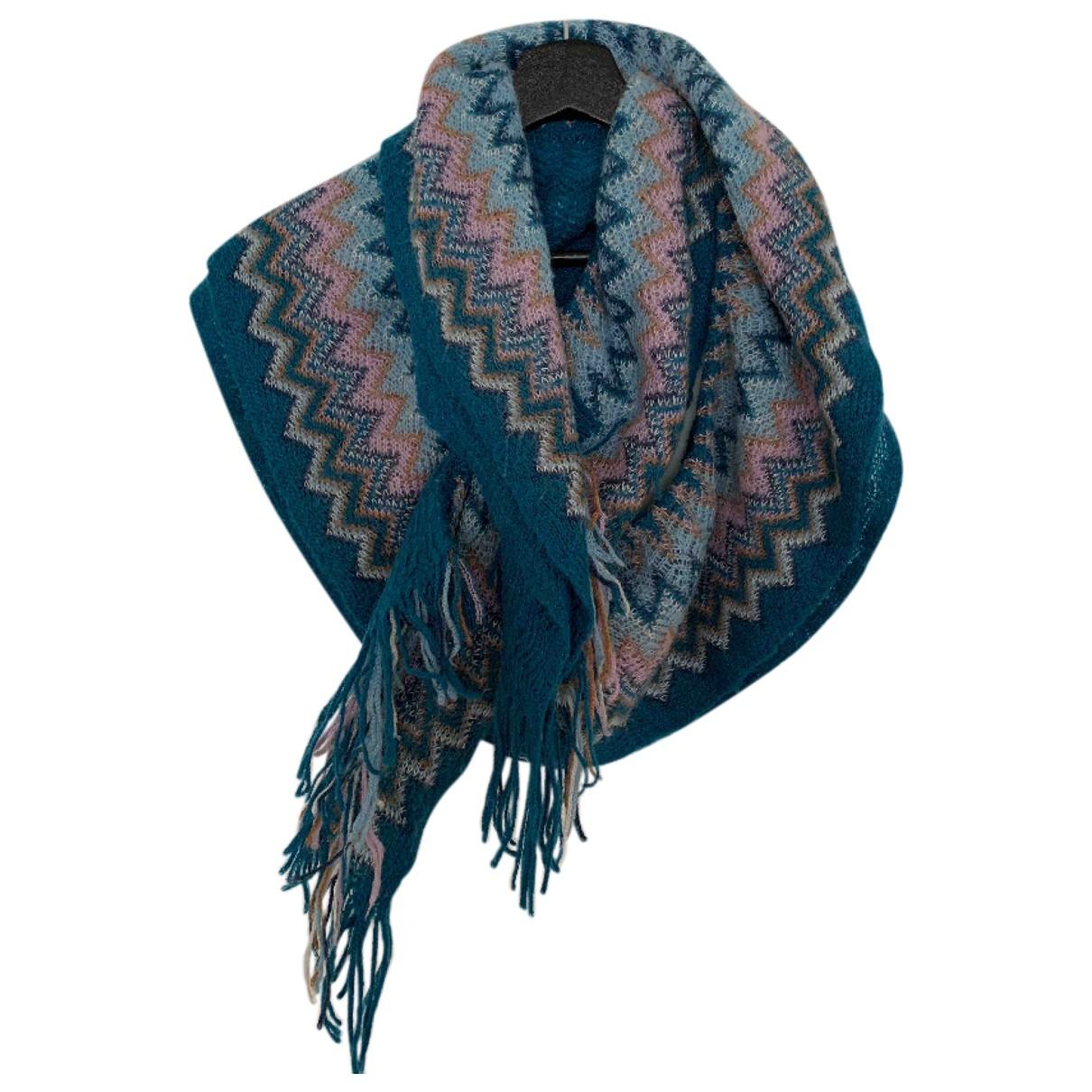 Missoni - Foulard   pour femme en laine - bleu