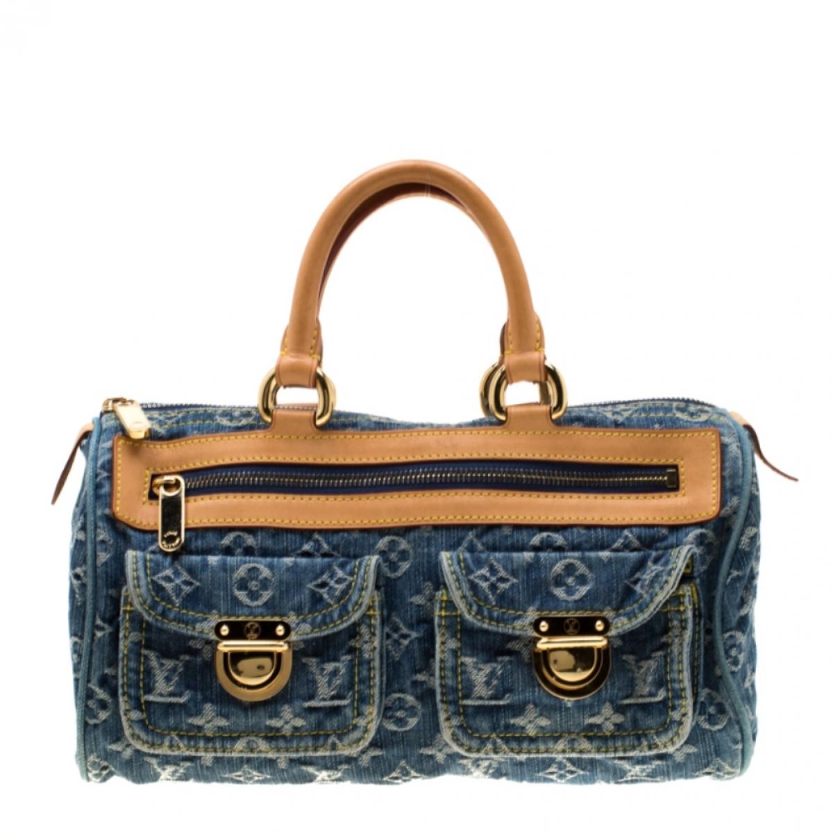 Louis Vuitton Neo speedy Handtasche in  Blau Denim - Jeans