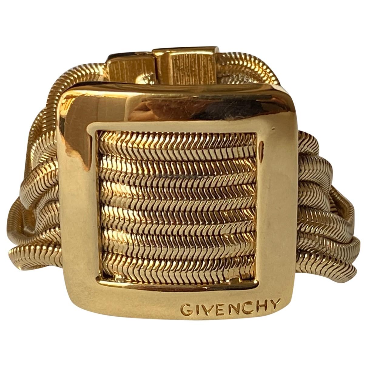 Givenchy - Bracelet   pour femme en plaque or - dore