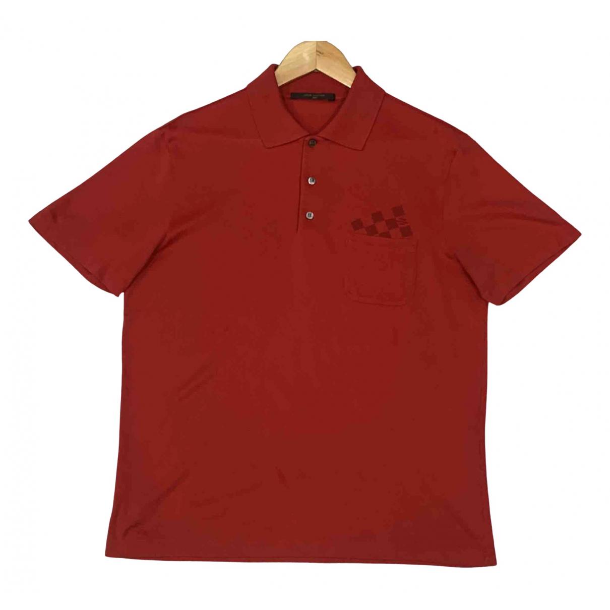Louis Vuitton - Polos   pour homme en coton - rouge