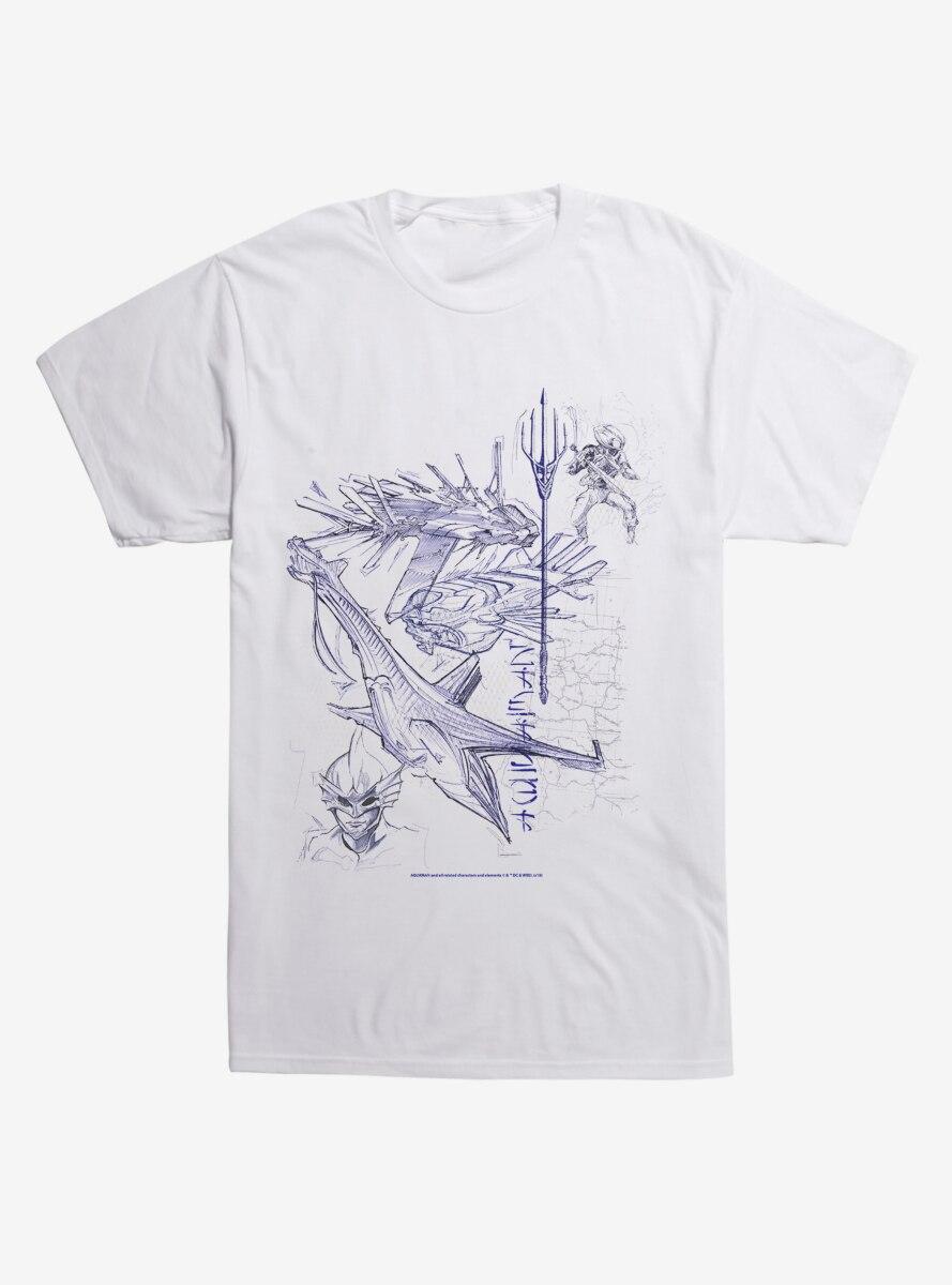 DC Comics Aquaman Sketch T-Shirt