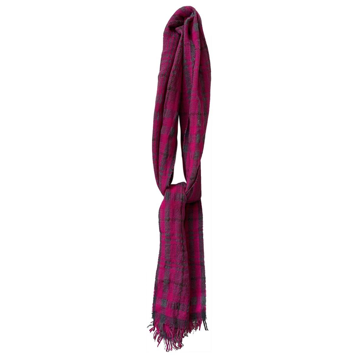 Daks \N Schal in  Rosa Wolle