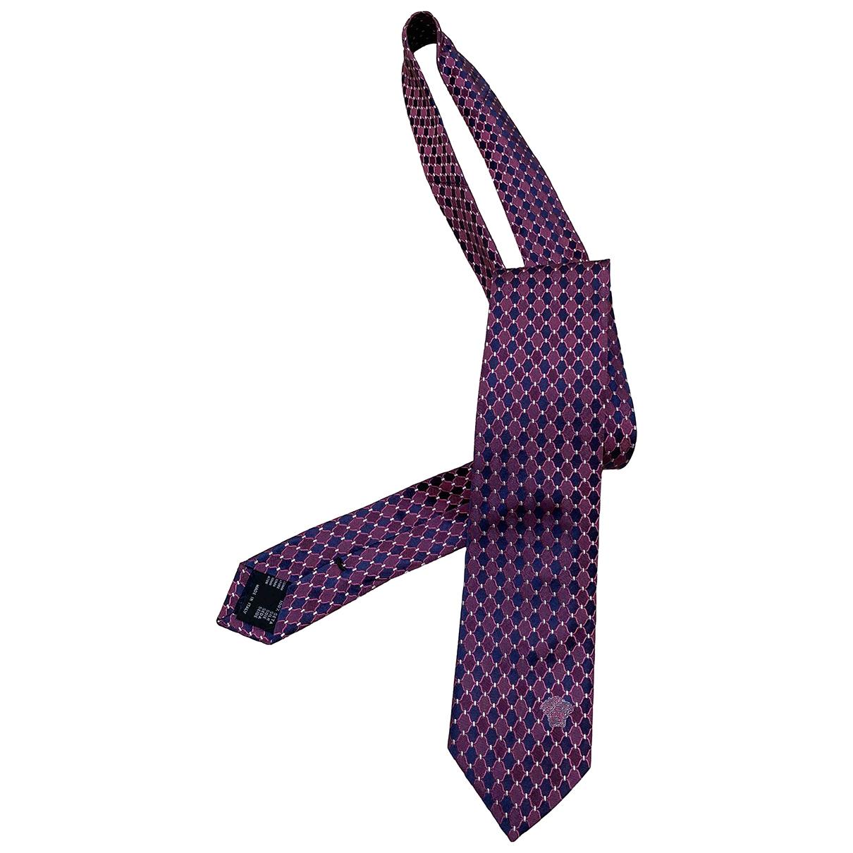 Versace \N Purple Cotton Ties for Men \N